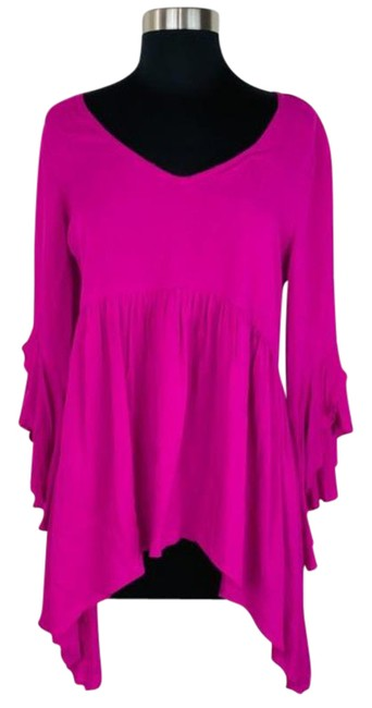 Item - Pink Dark Bell Sleeve Blouse Size 4 (S)