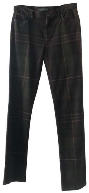 Item - Brown Plaid Rn41381 Straight Leg Jeans Size 6 (S, 28)