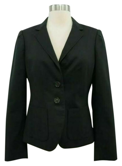 Item - Black Fitted Stretch 2-button Poly Lined Jacket Blazer Size 0 (XS)