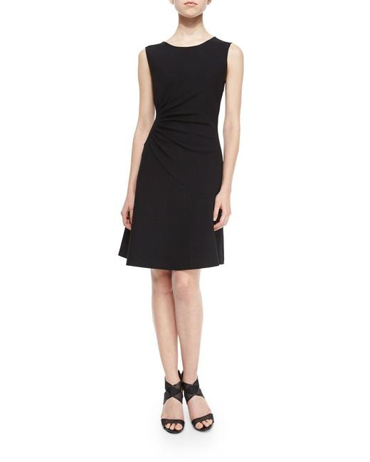 Item - Black Dayna Ruched Fit-and-flare Mid-length Short Casual Dress Size 2 (XS)