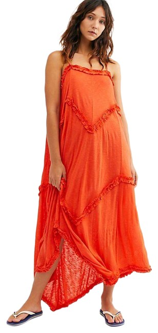 Item - Orange Fp Beach Avalon Mid-length Casual Maxi Dress Size 12 (L)