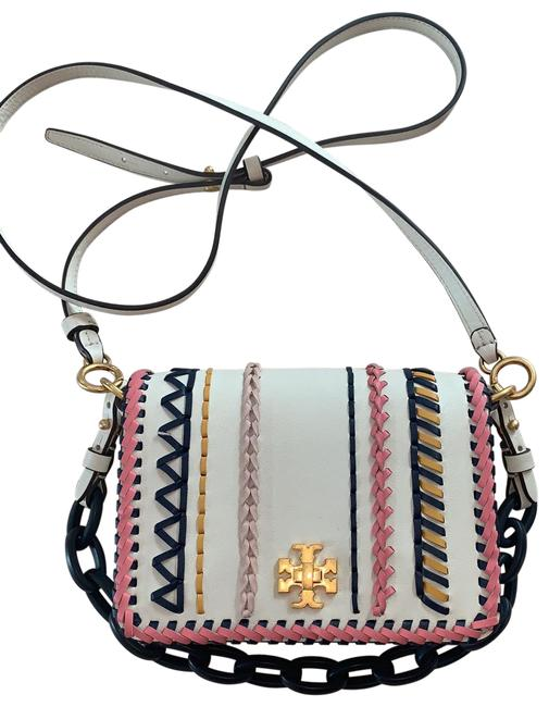 Item - Shoulder Beige Yellow Coral Navy Blue and Pastel Pink Leather Cross Body Bag