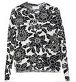 Christian Wijnants Mother Nature Knit Floral Black & White Sweater Christian Wijnants Mother Nature Knit Floral Black & White Sweater Image 1