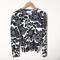 Christian Wijnants Mother Nature Knit Floral Black & White Sweater Christian Wijnants Mother Nature Knit Floral Black & White Sweater Image 2