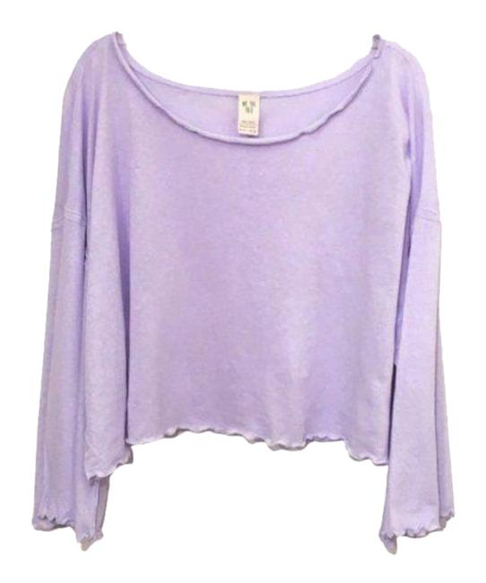 Item - Dusted Lilac Bird Gang Cropped Tee Shirt Size 6 (S)