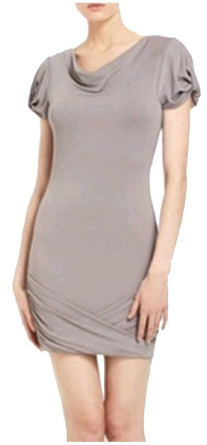 Item - Gray XS Flavia Cowl Taupe Short Cocktail Dress Size 0 (XS)