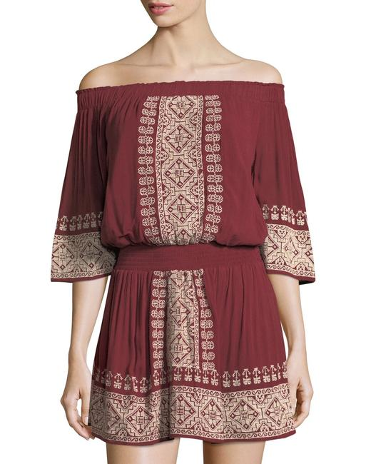Item - Wine Red Fiona Off-the Shoulder Short Casual Dress Size 0 (XS)