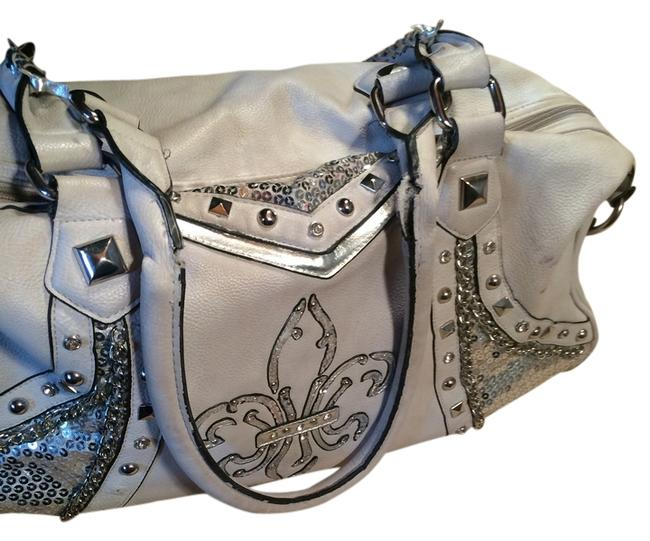 Item - Handbag White Silver Shoulder Bag