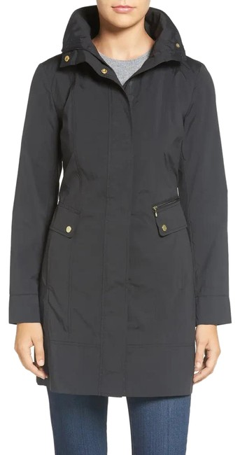 Item - Black Bow Packable Hooded Coat Size 8 (M)