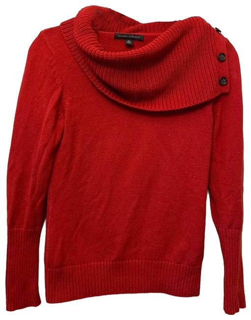 Item - W Knit Button Accent Red Sweater