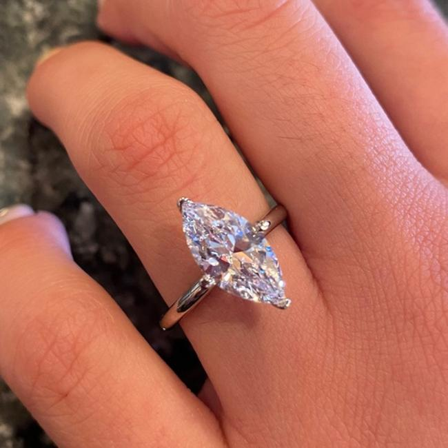 Custom Made White Gold New 2.5ct Marquise Cut Cz 14k Engagement Ring Custom Made White Gold New 2.5ct Marquise Cut Cz 14k Engagement Ring Image 1
