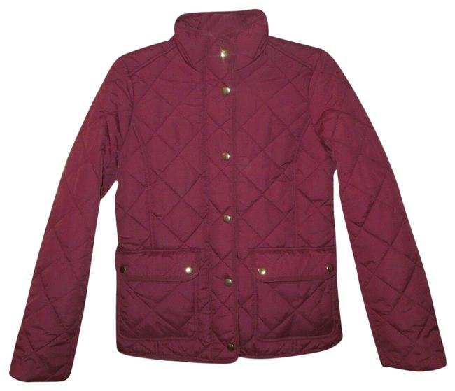 Item - Red XS Burgundy Gold Buttons Downtown Quilted Puffer Jacket Size 0 (XS)