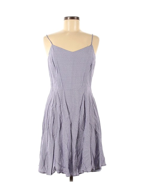 Old Navy Lavender/White L Short Casual Dress Size 14 (L) Old Navy Lavender/White L Short Casual Dress Size 14 (L) Image 1