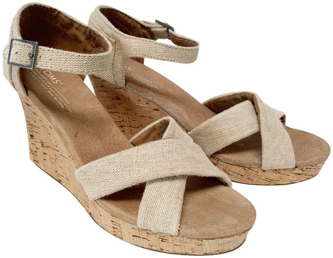 Item - Tan/Natural Sierra Wedges Size US 9.5 Regular (M, B)