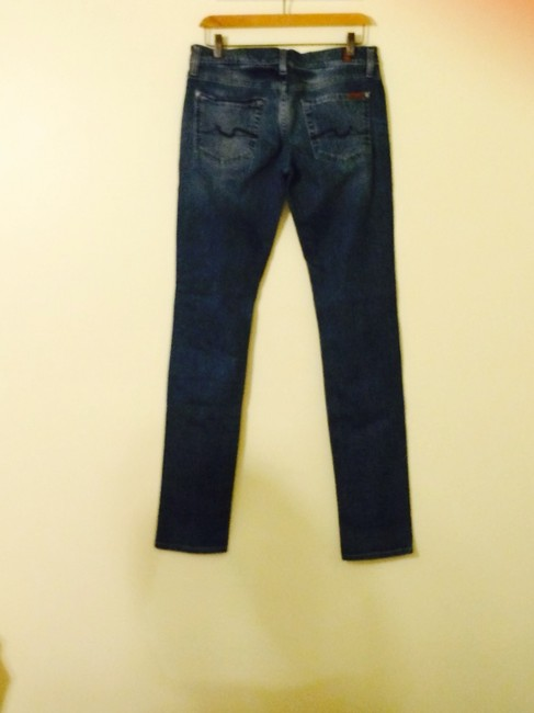 7 For All Mankind Skinny Jeans-Light Wash Image 4