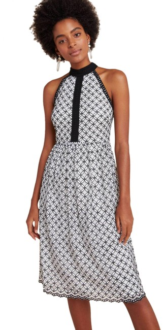 Item - Black White Eri + Ali Ninetta Halter Neck Lace Mini Mid-length Cocktail Dress Size 10 (M)