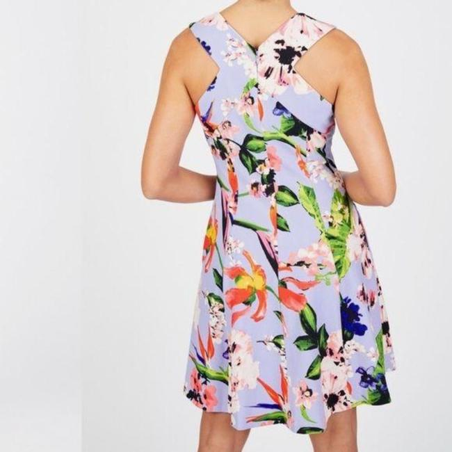 Vince Camuto Purple Blue Floral Fit & Flare Sleeveless Mid-length Short Casual Dress Size 10 (M) Vince Camuto Purple Blue Floral Fit & Flare Sleeveless Mid-length Short Casual Dress Size 10 (M) Image 3