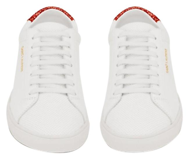Item - White Calfskin Glitter Andy Low Sneakers Size US 6 Regular (M, B)