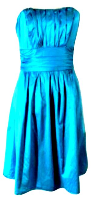 Item - Blue Womens Prom Gown Sleeveless 371 Cocktail Dress Size 4 (S)