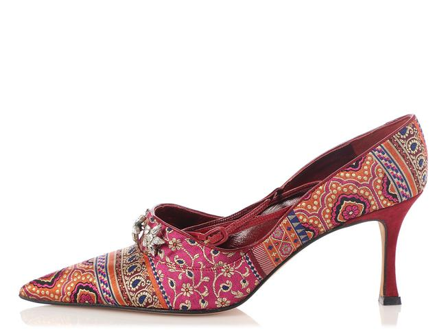 Item - Mulitcolor Crystal Embellished Brocade Pumps Size EU 38.5 (Approx. US 8.5) Regular (M, B)