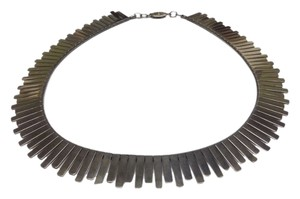 CLEOPATRA STYLE SILVERTONE CHOKER NECKLACE 15.75 INCHES