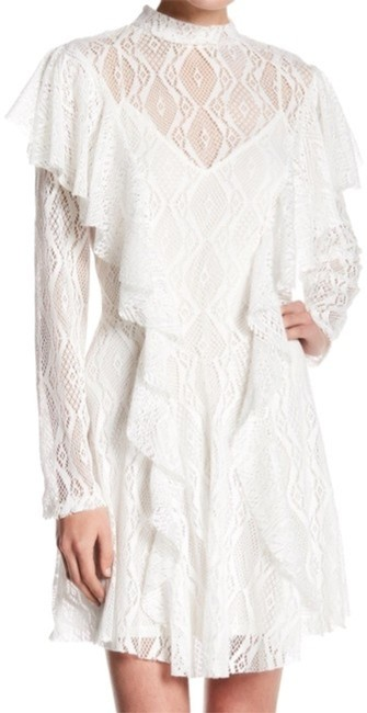 Free People White Candy Rock Lace Ob680097 Short Cocktail Dress Size 8 (M) Free People White Candy Rock Lace Ob680097 Short Cocktail Dress Size 8 (M) Image 1