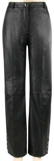 Item - Black Collection Marie Gray Leather Activewear Bottoms Size 10 (M, 31)