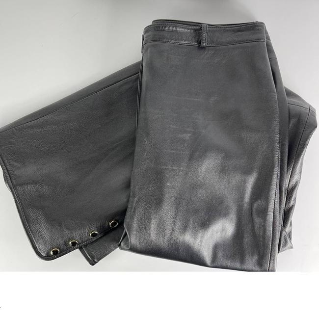 St. John Black Collection Marie Gray Leather Activewear Bottoms Size 10 (M, 31) St. John Black Collection Marie Gray Leather Activewear Bottoms Size 10 (M, 31) Image 2