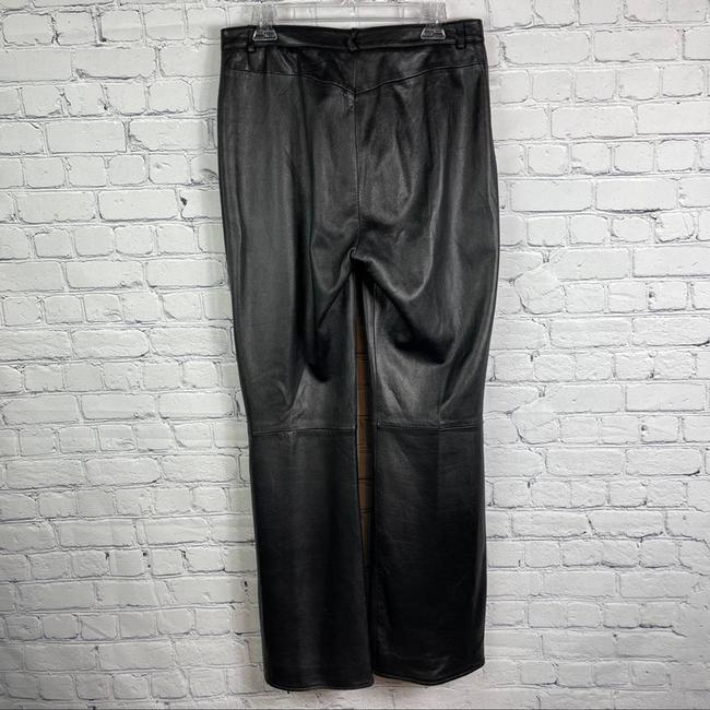 St. John Black Collection Marie Gray Leather Activewear Bottoms Size 10 (M, 31) St. John Black Collection Marie Gray Leather Activewear Bottoms Size 10 (M, 31) Image 5