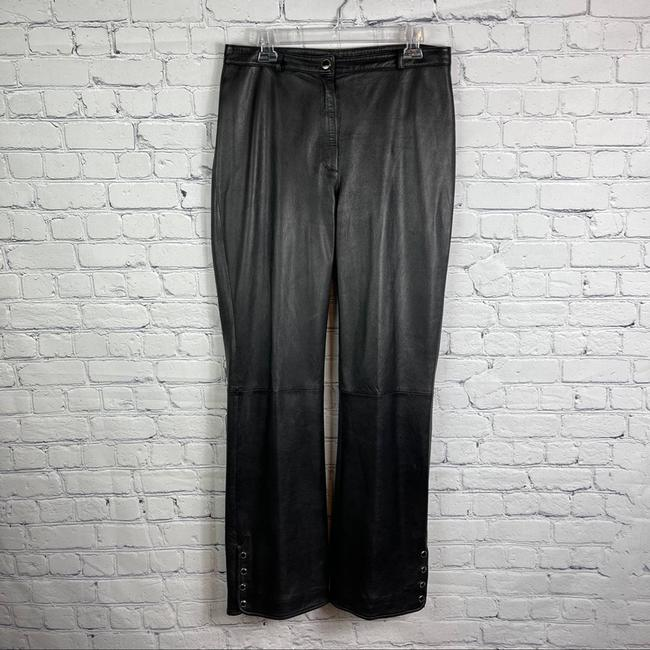 St. John Black Collection Marie Gray Leather Activewear Bottoms Size 10 (M, 31) St. John Black Collection Marie Gray Leather Activewear Bottoms Size 10 (M, 31) Image 6