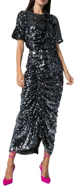 Item - Silver Sophia Sequin Night Out Dress Size 8 (M)