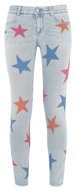 Item - Blue Medium Wash The Boyfriend with Stars Skinny Jeans Size 26 (2, XS)