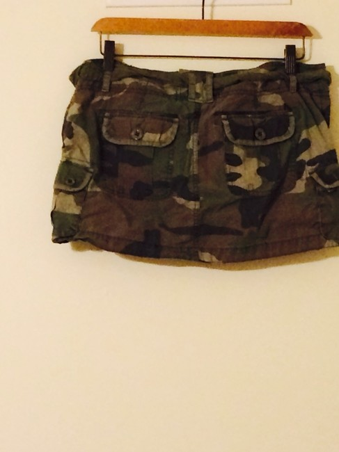 Abercrombie & Fitch Skirt Camo Green Image 1