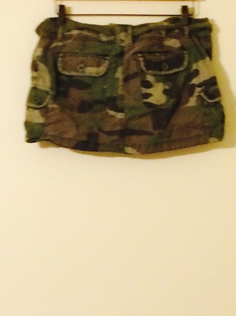 Abercrombie & Fitch Skirt Camo Green Image 2