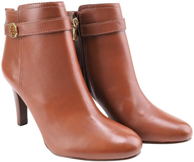 Item - Almond Brita 85mm Leather Ankle Heels Boots/Booties Size US 8.5 Regular (M, B)