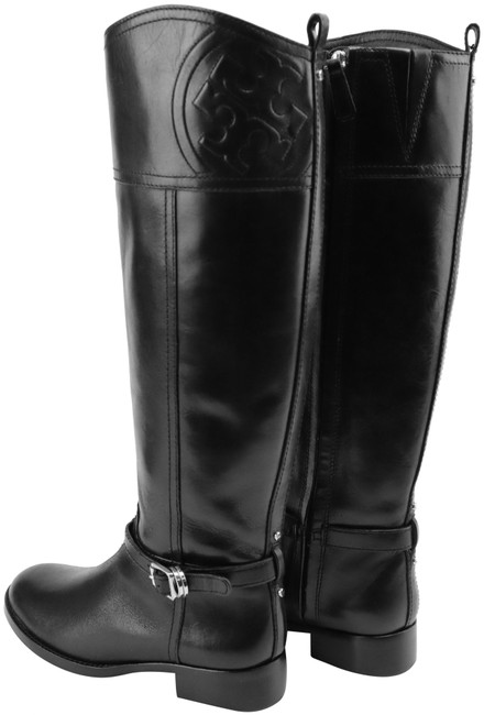 Item - Black Marlene Tumble Leather Riding Boots/Booties Boots/Booties Size US 6.5 Regular (M, B)