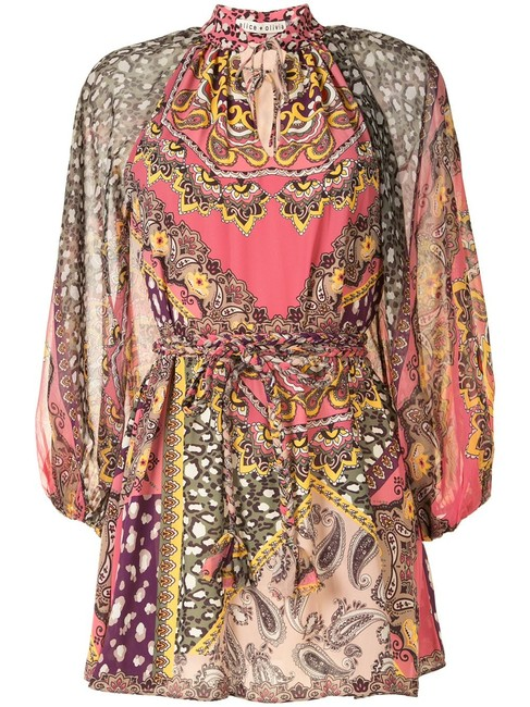 Item - Multi with Tag Paisley Print Short Night Out Dress Size 2 (XS)