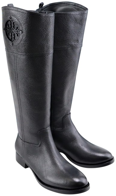 Item - Black Kiernan 35mm Tumble Leather Riding Boots/Booties Boots/Booties Size US 6 Regular (M, B)