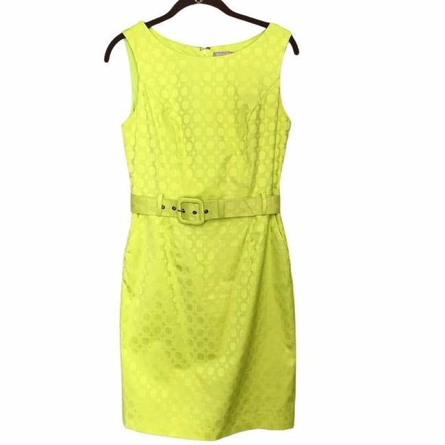 Item - Yellow Neon Belted Sheath Sun Short Casual Dress Size 4 (S)