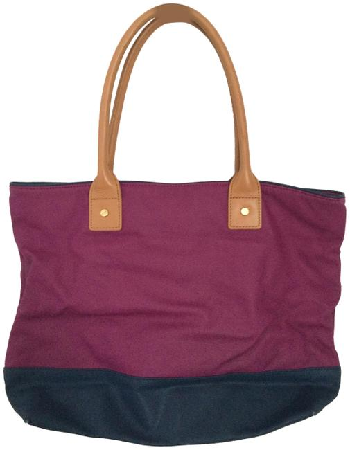 Item - Bucket Bag Purple/Pink/Blue Leather Tote