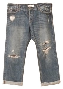 Hollister Capri/Cropped Denim-Distressed