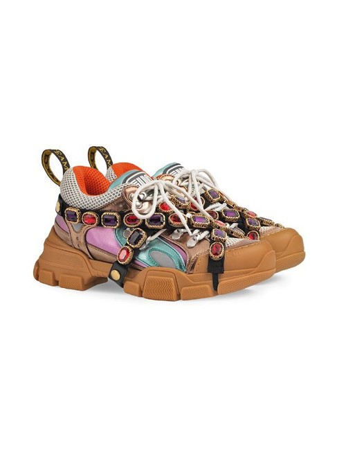 Item - Multicolor Flashtrek Removable Crystals Sneakers Size US 6 Regular (M, B)