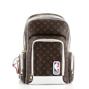 Item - Lvxnba New Monogram Brown White Coated Canvas Backpack