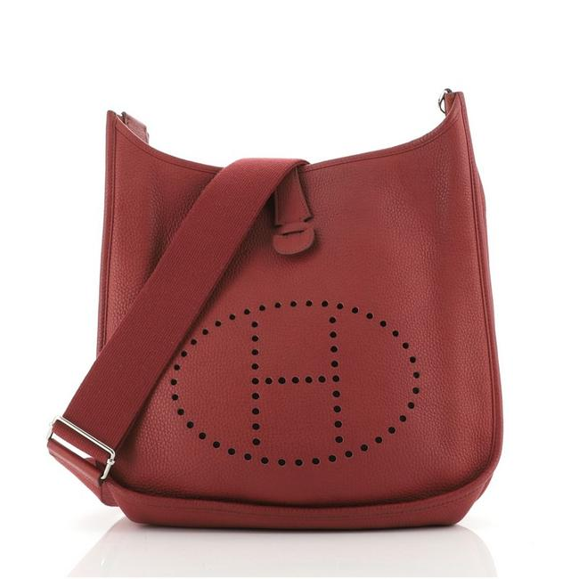 Item - Evelyne Gen Iii Clemence Gm Red Leather Cross Body Bag