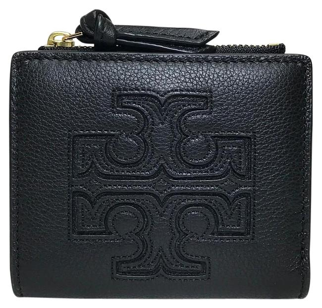 Item - Black Bi-fold Zipper Compact Leather Wallet
