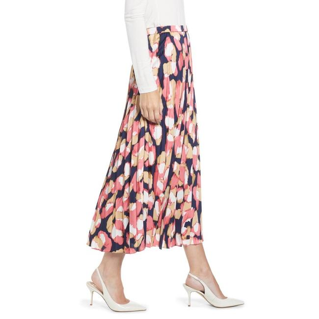 Item - Navy/Pink Aimee Printed Pleated Skirt Size 2 (XS, 26)