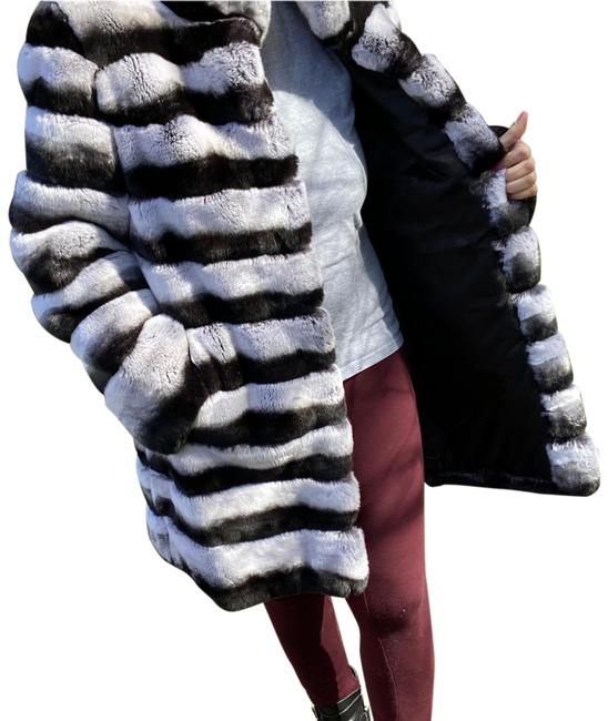 Item - Black and White Real Coat Size 8 (M)