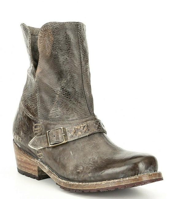 Item - Brown Tanned Leather Buckle Short Heel Boots/Booties Size US 6.5 Regular (M, B)