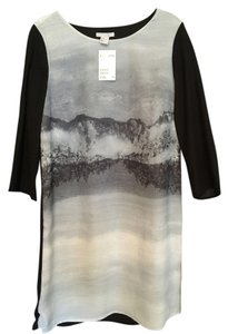 H&M short dress Black/Gray Nwt Rare Abstract Black And Gray on Tradesy