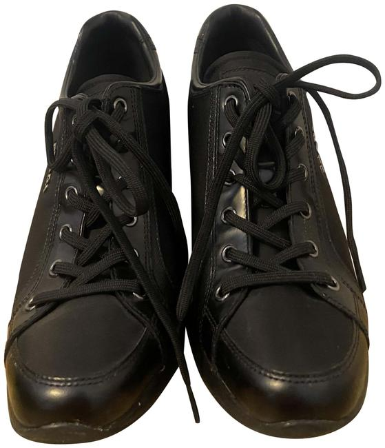 Item - Black Leather Sneakers Wedges Size EU 39.5 (Approx. US 9.5) Regular (M, B)